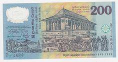 Sri Lanka 1998 Belíssima cédula de 200 Rúpias comeorativa dos 50 anos de Independência do pais, em p