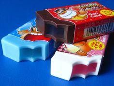 erasers : ガリガリ君(コーラ・ソーダ・いちごミルクチョコチップ) by ㈱サカモト