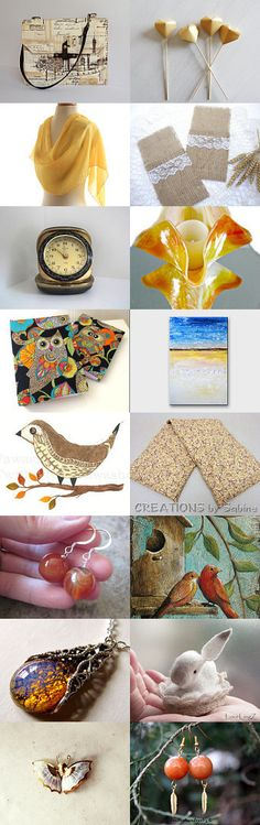 Shades of Orange by Cindy on Etsy