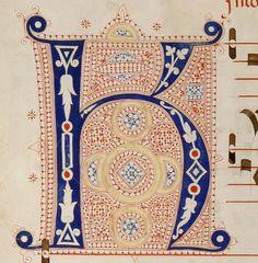 Iniziale K, autore: Filippo di Matteo Torelli tecnica: inchiostro e penna