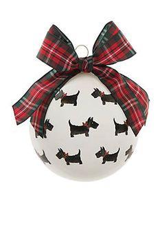 Crown & Ivy™ Scottie Dog Glass Ornament Tartan Christmas, Christmas Jingles, Green Christmas, Christmas Crafts, Christmas Bulbs, Xmas, Favorite Holiday, Glass Ornaments, Tree Decorations