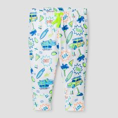 Baby Boys' Summer Icons Leggings Cat & Jack - White 3-6 Months, Infant Boy's, Size: 3-6 M