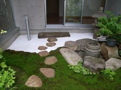 An inviting entry to a small Japanese garden.
