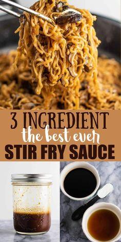 Stir Fry Recipes, Cooking Recipes, Ramen Recipes, Noodle Recipes, Cooking Tips, Dinner Recipes, Wok Sauce, Homemade Stir Fry Sauce, Gastronomia
