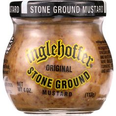 Inglehoffer Mustard - Stone Ground - 4 oz - case of 12 - Inglehoffer Stone Ground MustardOriginal Organic: NA Gluten Free: No Dairy Free: No Yeast Free: No Wheat Free: No Vegan: No Kosher: No GMO Free: NA Summer Melt Risk? No Country Origin: NA Dimensions: 10.4 in. L x 7.8 in. W x 2.6 in. H Pack: 12 Size: 4 OZ Selling Unit: case. Health Beauty > Food. Weight: 6.45