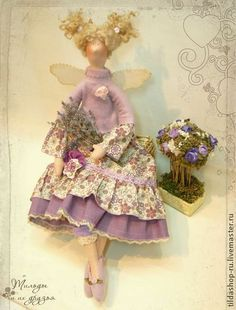 Тильда Лавандовая фея Фиона - тильда,кукла Тильда,куклы тильды,ангел тильда
