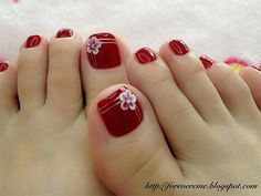 Toe Nail Designs With Flowers 2018 - toe nail art with flowers cute pedicure designs for - arttonail Toenail Art Designs, Pedicure Nail Designs, Manicure E Pedicure, Pedicure Ideas, Nails Design, Toe Nail Flower Designs, Nail Ideas, Toe Designs, Pretty Toe Nails