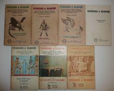 Vtg Dungeons & Dragons Supplement Books Lot GYGAX Men Magic Sheets Monsters Gods #TSR