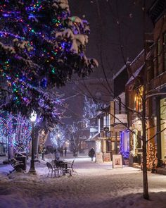 """8,720 Likes, 60 Comments - Visit Colorado (@visitcolorado) on Instagram: """"'Twas the night before Christmas in @aspenco..watch our stories for the most festive places to…"""""""