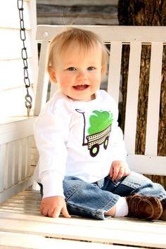 What a cute idea for a boys shirt.