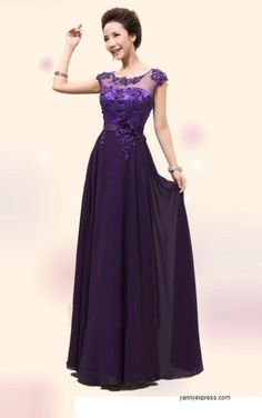 Exceptional Beauty Lace Evening Dress Ball Gown Purple Long Evening Gowns a4eb35eac