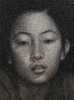 ONE SINGLE THREAD, ONE PORTRAIT BY KUMI YAMASHITA
