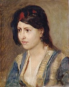 Leon Belly (French , 1827-1877) – Young Woman in Turkish Veste
