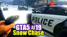GTA 5 Online Co-Op PS4 #19 Snow Police Chase