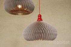 Pension Fur Produkte, Milan Furniture Fair, paper lamp, recycled paper lamp, Honey Lamp TP
