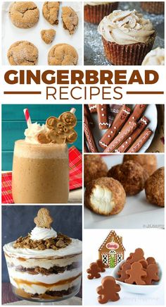 Huge list of yummy gingerbread recipes - perfect for the holidays.