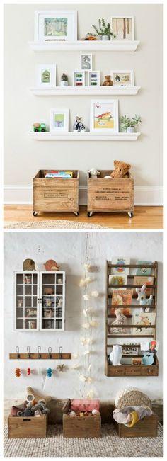 Guardar juguetes cajas recicladas