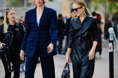 After Loewe | Paris via Le 21ème Street Style, Paris Street, Loewe, Double Breasted Suit, Ootd, South Africa, Catwalk, Singapore, Suit Jacket