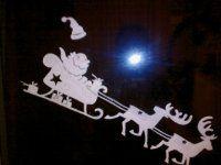 Santa-vystřihovánka na okno