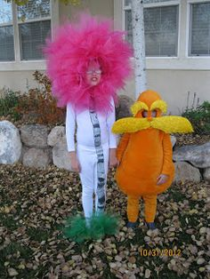 This is so Benny and I next halloween! the Lorax and a Truffula Tree