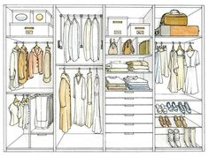 We usually fight with our clothes and their space. Something doesn't fit in the closet (Closet Designs That Will Fitted For Clothes) Wardrobe Design Bedroom, Walk In Wardrobe, Bedroom Wardrobe, Walk In Closet, Wardrobe Organisation, Closet Organization, Ideas Armario, Closet Layout, Dressing Room Design