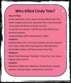 Who Killed Cindy Tote? Thirty One Logo, Thirty One Games, Thirty One Party, Thirty One Business, My Thirty One, Thirty One Facebook, Direct Sales Party, 31 Party, Thirty One Consultant