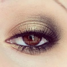 gold and sage/black smoky eye