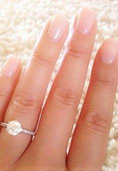 14K White Gold Thin French-cut Pave Set Diamond Ring