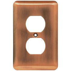 stamped round 1 duplex outlet wall plate antique copper antique copper finish