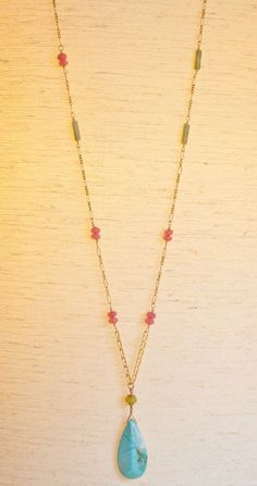 Love! Love! Boho Wire Wrapped Necklace with Mixed Stones by ArtesaniaC on Etsy, $168.00