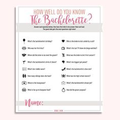 This is one of our FAVORITE games to play the first night of a bachelorette party! Print out a copy of this free (yep - free!) digital download for each guest a