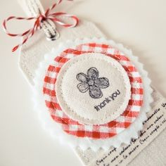 Great way to use fabric scraps and papers! You only need a basic sewing skill to create the special gift tag.