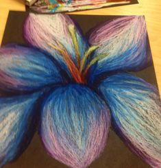 Oil pastel flower by CaryHorizons15
