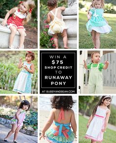GIVEAWAY // Win a $75 Shop Credit to Runaway Pony at Bubby & Bean! Open ww and ends 7/3/14.