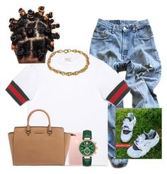 """""""Gucci everything."""" by aleafm0ffical ❤ liked on Polyvore featuring Levi's, Gucci and Michael Kors"""