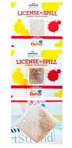 All you need to remove stains from Mohawk Flooring's SmartStrand carpet is water! #LicensetoSpill #shop #cbias