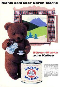 """""""Nichts geht über Bärenmarke zum Kaffee..."""" Repinned by www.gorara.com"""