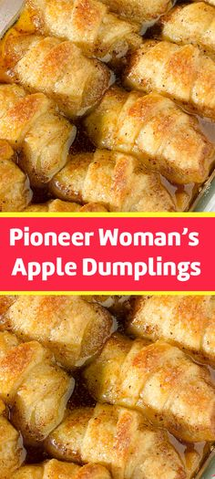 Apple Dumplings are some of the best pastry-style desserts ever created. With only 7 ingredients, this easy apple dumpling recipe is the best and most flavorful of them all! Pioneer Woman Apple Dumplings, Apple Dumpling Recipe, Köstliche Desserts, Delicious Desserts, Dessert Recipes, Yummy Food, Catering, Apple Recipes, Food To Make