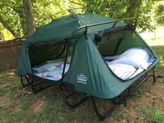 Kamprite Double Tent Cot   too heavy for backpacking, but perfect for family camping.