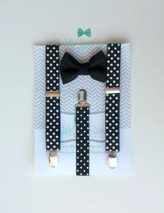 kids bow tie suspenders set boy bow tie by LittleBoySwag