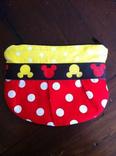 Mickey Mouse pleated zippered pouch  jonahbonah by jonahbonah, $18.00