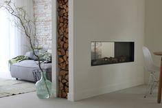 De gashaard Faber Aspect Premium ST XL  Inspiratie als tussenwand woonkamer/trappenhuis