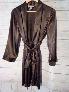 Womens Morgan Taylor Intimates Bath Robe Short Brown S Small w/Belt Sleepwear #MorganTaylor #Robes