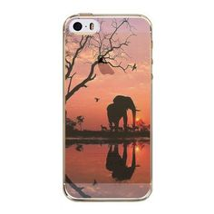 Phone Back Cases For iPhone 5 iPhone 5s SE Ultra Thin Soft TPU Silicon Printed Animals, Flower, Beauty Girl Back Case Cover #Iphone5s