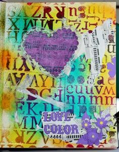 Love Color - journal page - Cloth Paper Scissors