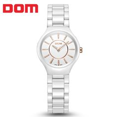 (54.50$)  Watch here - http://aipp3.worlditems.win/all/product.php?id=1701612886 - Relogio Masculino DOM 2015 Fashion womans watches top brand luxury watch ceramic quartz slim wristwatches  free shipping