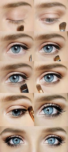 Natural Recipes for Beauty: Learning to make up .- Recettes Naturelles pour la beauté: Apprendre a se maquiller les yeux: maquilla… Natural Recipes for Beauty: Learning to make up the eyes: makeup of the day. Beauty Make-up, Beauty Hacks, Hair Beauty, Beauty Tips, Beauty Ideas, Natural Beauty, Beauty Essentials, Fashion Beauty, Blue Eye Makeup