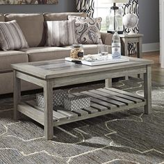 Veldar Coffee Table with Magazine Rack