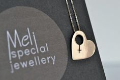 Silver Heart Pendant/Dainty Heart Necklace/Feminine Symbol Statment Jewelery/Romantic Valentines Gift/Anniversary Gift/Gift For Her/Feminist Gifts For Friends, Gifts For Her, Feminine Symbols, Heart Jewelry, Unique Jewelry, Dainty Necklace, Handmade Sterling Silver, Necklace Lengths, Valentine Gifts