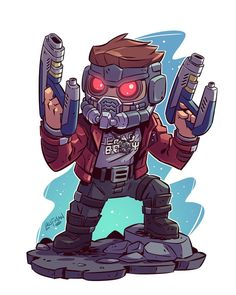 """Derek Laufman on Instagram: """"Had a lot of requests for Starlord. Here you go! #starlord #gotg #avengersinfinitywar #chibi #fanart #dereklaufman"""""""
